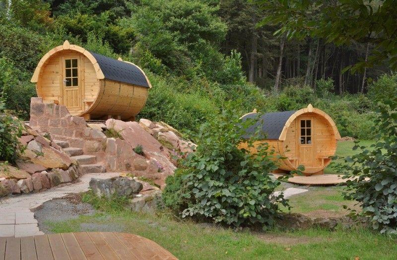 Camping-Freizeitzentrum Sägmühle und Schlafen im Weinfass