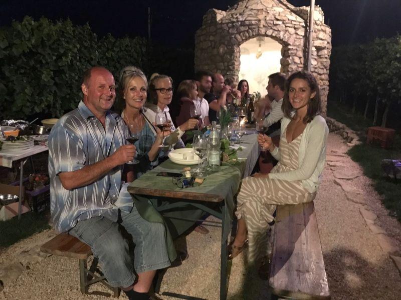 Weinprobe am Trullo